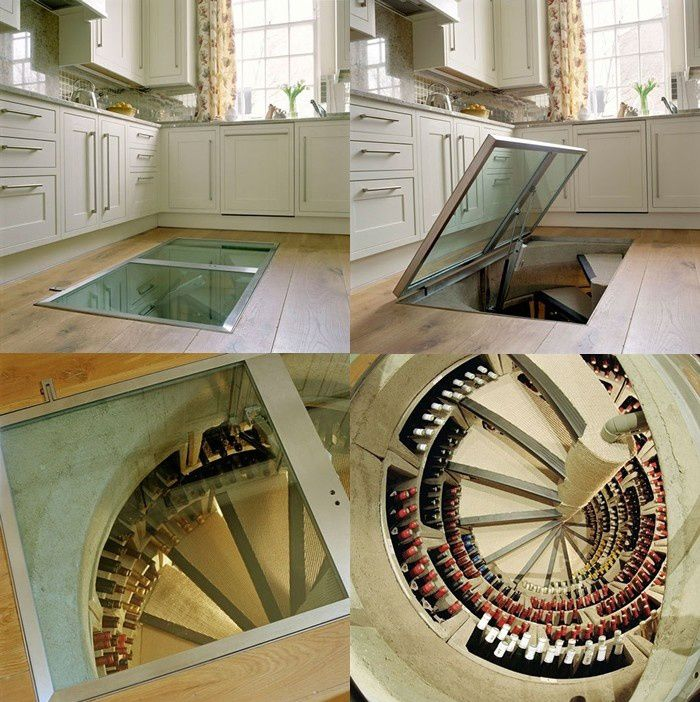 This is what I need.Kitchens, Ideas, Stairs, Floors, Dreams House, Glasses Doors, Wine Storage, Wine Cellars, Spirals Staircas