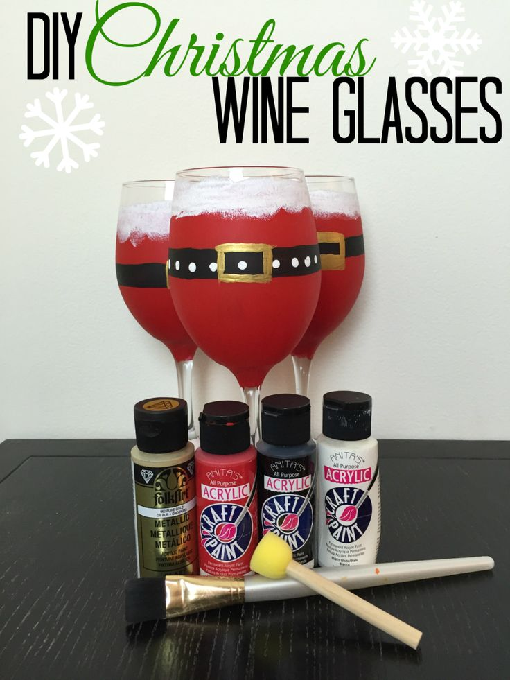 Christmas DIY Santa Wine Glass