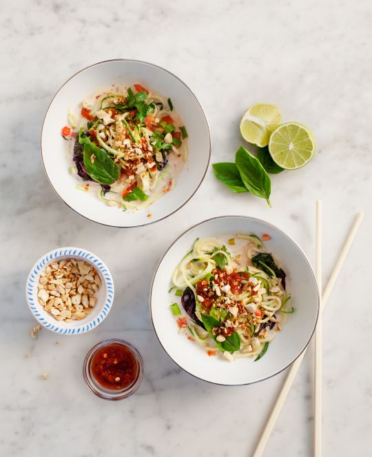 Coconut-Lemongrass Zucchini Noodles