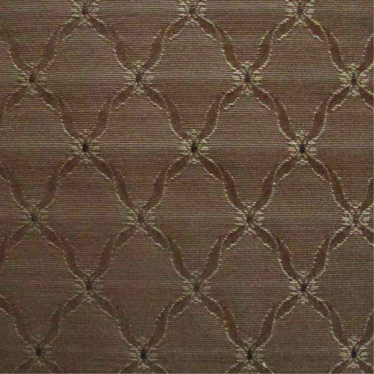Celtic Medieval Brown Flat-Weave Curtain and Upholstery Fabric | Eleanor of Aquitaine Bullrush Trellis from Loome Fabrics