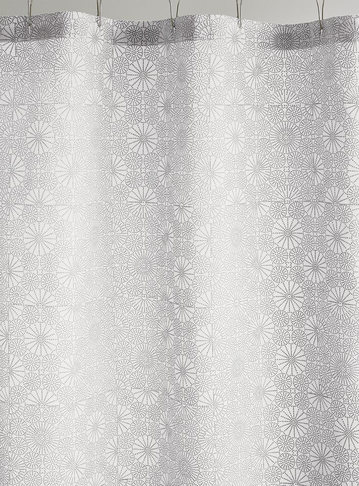 delicate dotted geometric botanical print in grey patterns this eyecatching cotton shower curtain
