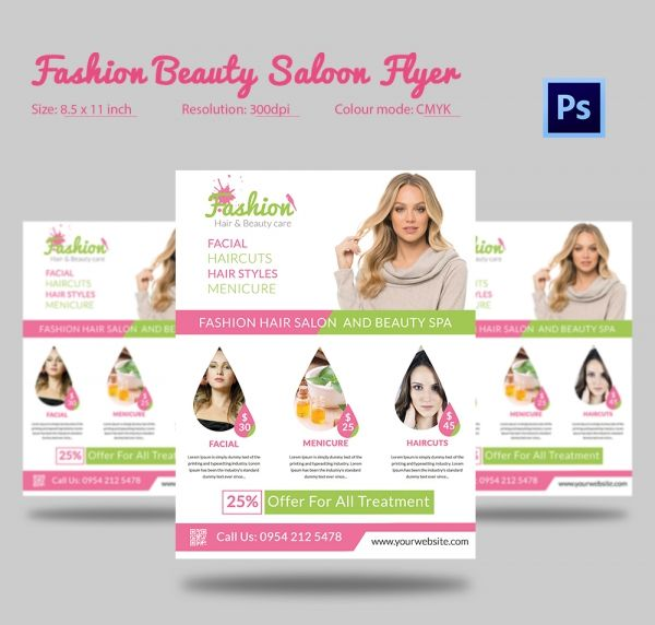 Best Beauty Salon Flyer Templates Images On Pinterest Ai - Hair salon brochure templates