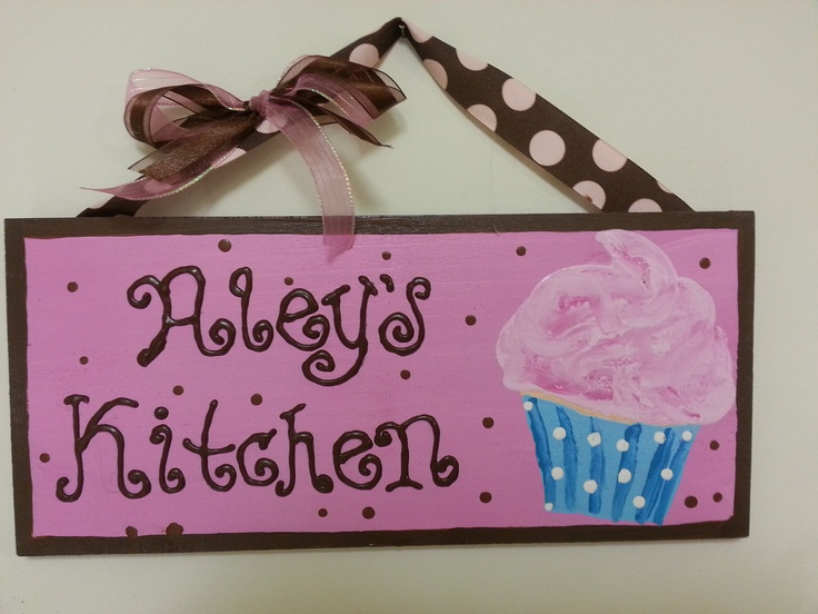 Cupcake+Theme+Kitchen+Decor | Cupcake theme Kitchen/Home Decor by AleysPaintShop on Etsy