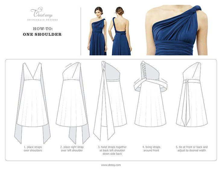 Bridesmaid Multi Wear Dress Instructions