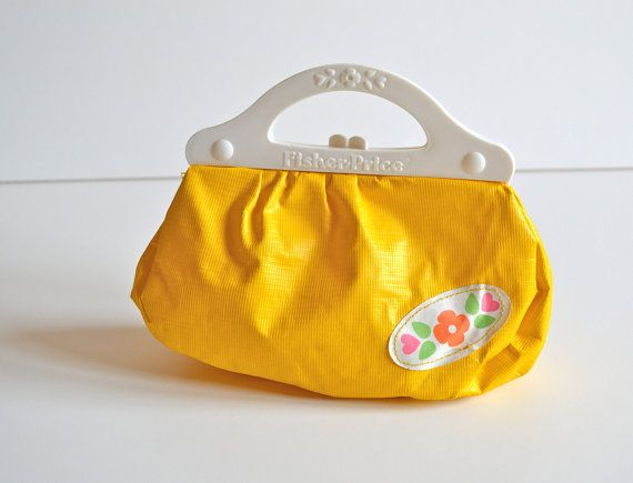 Vintage Fisher Price Toy Plastic Purse Canary The Good