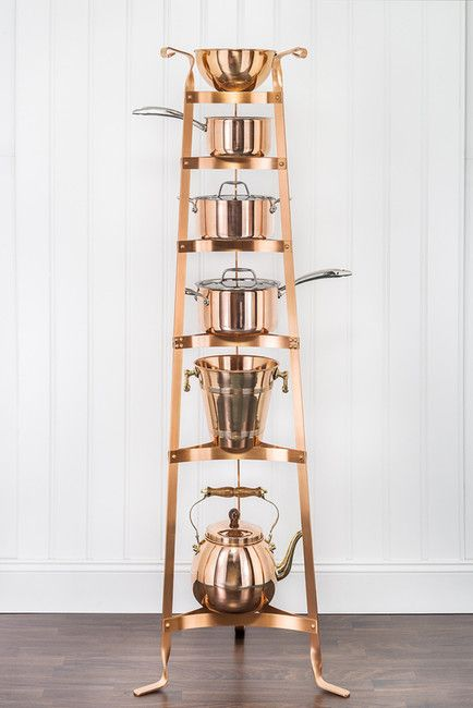 Well-liked 42 best Copper Kitchen Pot Racks & Pot Stands images on Pinterest  OK67