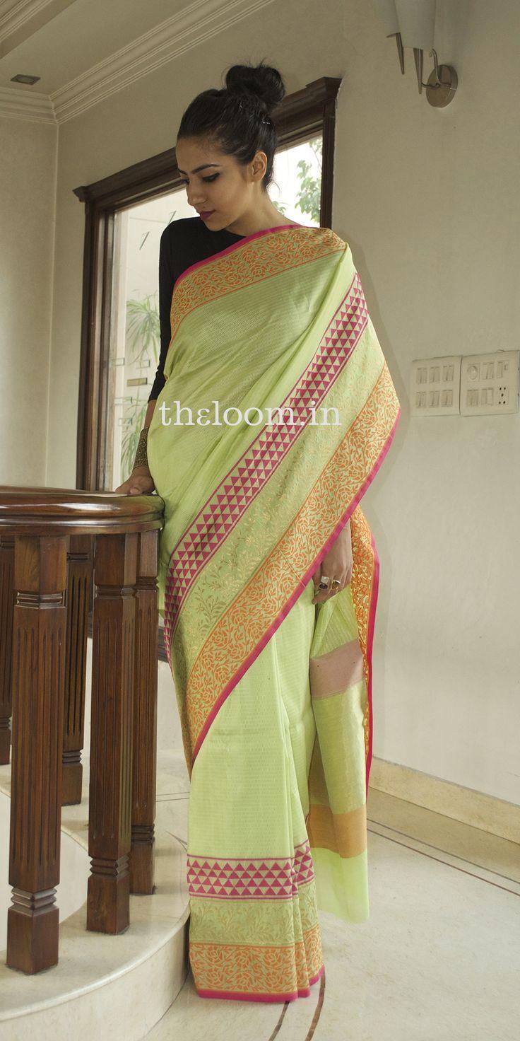 Handwoven Green Silk Saree