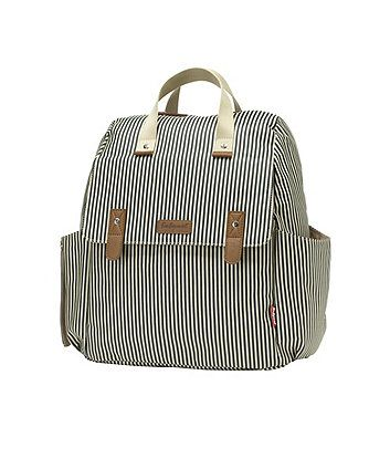 This versatile changing bag from Babymel has plenty of pockets to keep baby essentials neatly organzied and can be worn as a backpack, shoulder bag, cross body or hand held.