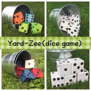 Outdoor Giant Dice Game! Yard-zee! Yahtzee Rules!