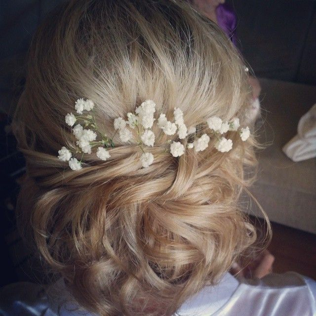 Love this pretty soft hair style.  Hair by Kristy from Miss Bliss  www.missblissonline.com.au #bridal #missbliss #softbun #wedding
