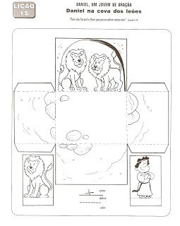 Daniel and the lion's cave template
