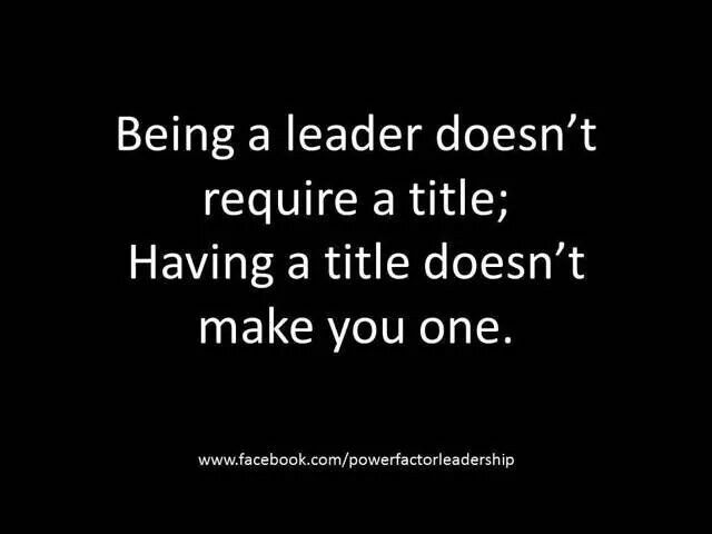 """You speak a lot about leadership for someone who has failed miserably at it. You want so much to """" lead"""". Be humble. You're not there."""