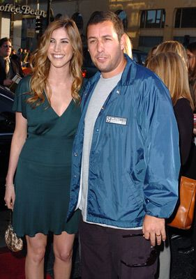 Adam Sandler and Jackie Sandler at an event for The Longest Yard (2005)