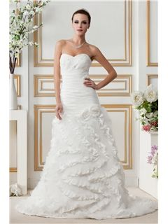 Attractive A-line Sweetheart Ruffles Gerogia's Wedding Dresses