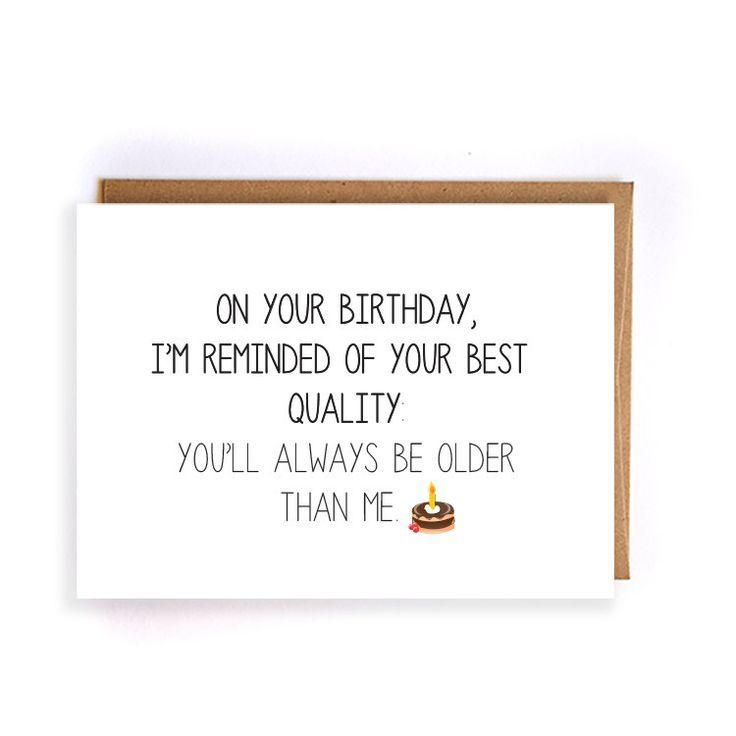 sarkastische Geburtstagskarte für Freund, handgem…