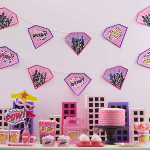 Superhéroe Pink » Mister & Miss Party #SuperPinkHero #ThematicParty #FunParty #Party #PinkHero #Wreath