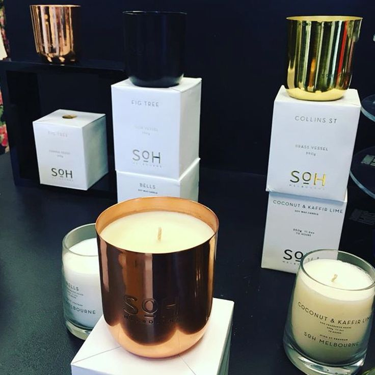 SOH Melbourne candles in store.