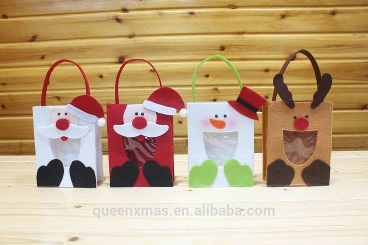 Regalo de la navidad de fieltro bolsas, 2015 recién llegado de navidad sentía bolsas-imagen-Suministros de Decoración de Navidad -Identificación del producto:1108347164-spanish.alibaba.com