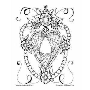 306 best brand new coloring pages images on pinterest drawings heart mandala coloring pages