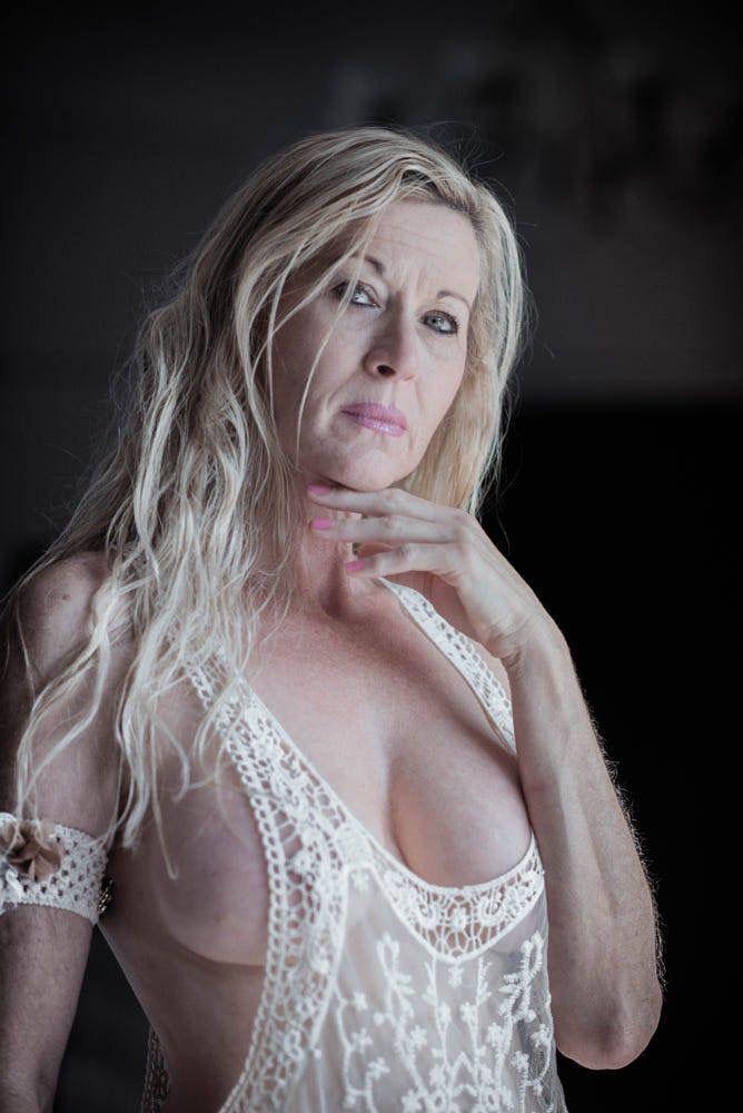 Mature fucked in her panties