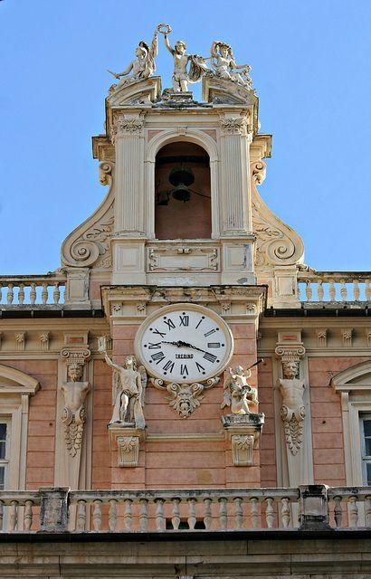 Torre dell'orologio di Palazzo Doria-Tursi, Genoa, Italy
