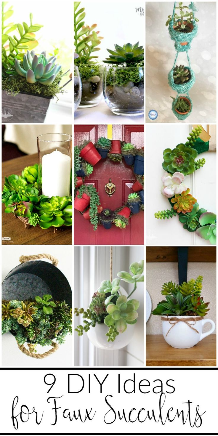 9 easy DIY ideas for faux succulents