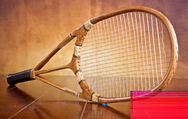 tennis racquet 1920  | Very rare winged Tennis Racquet
