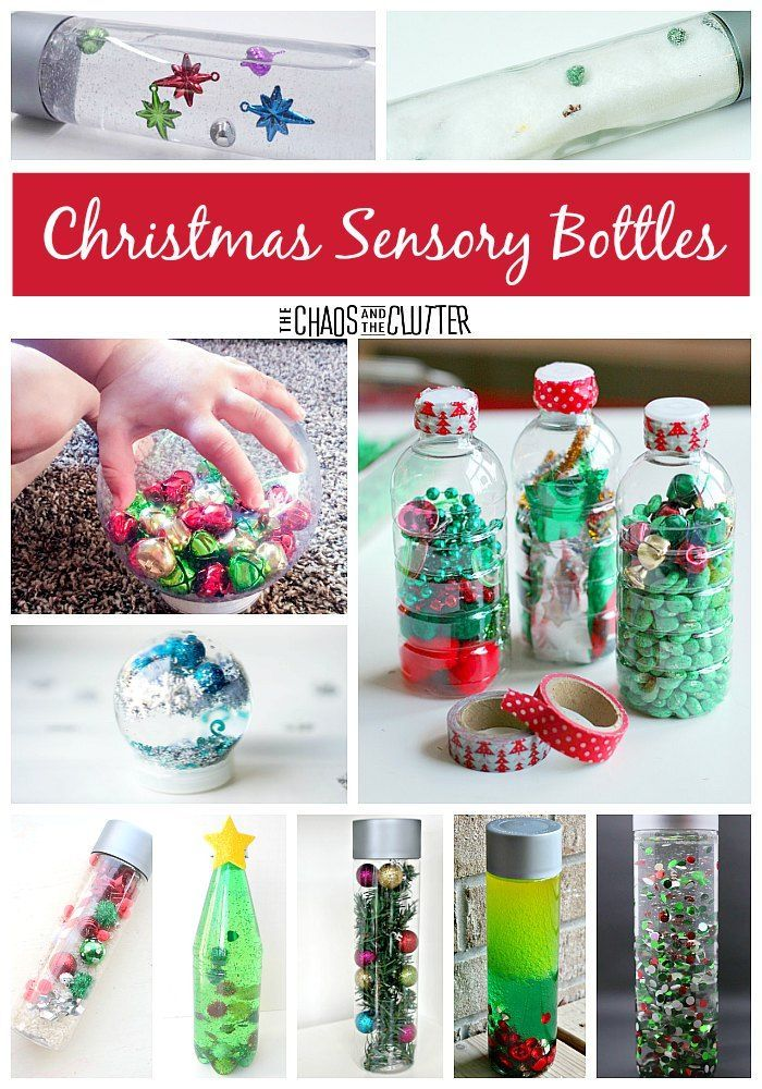 These Christmas sensory bottles are sure to provide hours of discovery. From magnet science to simple calm down bottles, you'll find it all here. #sensory #Christmas #sensorybottles