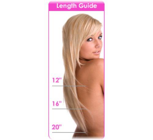 Flip-in hair in 3 verschillende lengtes te verkrijgen