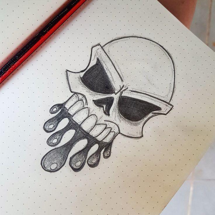 минимальной картинки с черепом в тетрадь очень нравится