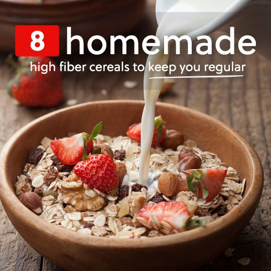 These homemade high fiber cereals are delicious and will help keep you regular...