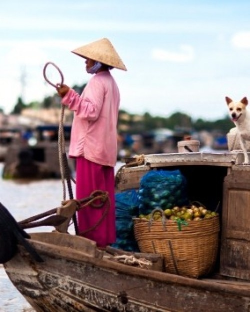 Victoria Can Tho Resort  ( Can Tho, Vietnam )  Practice your bargaining skills by floating over to the Cai Rang market. #Jetsetter