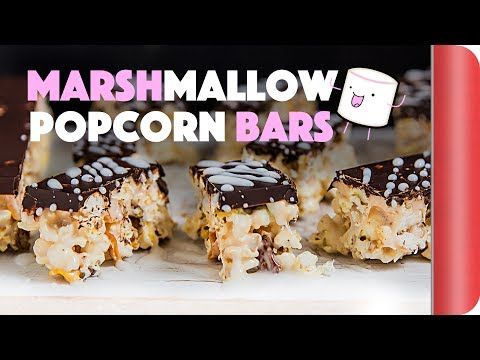 Ginger Marshmallow Popcorn Bars with Chocolate, Dried Mango & Pecans - Sorted Food