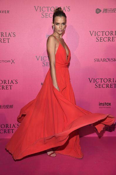 Josephine Skriver attends the 2016 Victoria's Secret Fashion Show after party on November 30 2016 in Paris France