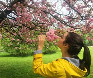 And when she stopped to smell the flowers. | 29 Times Adelaide Kane Had The Best Damn Instagram