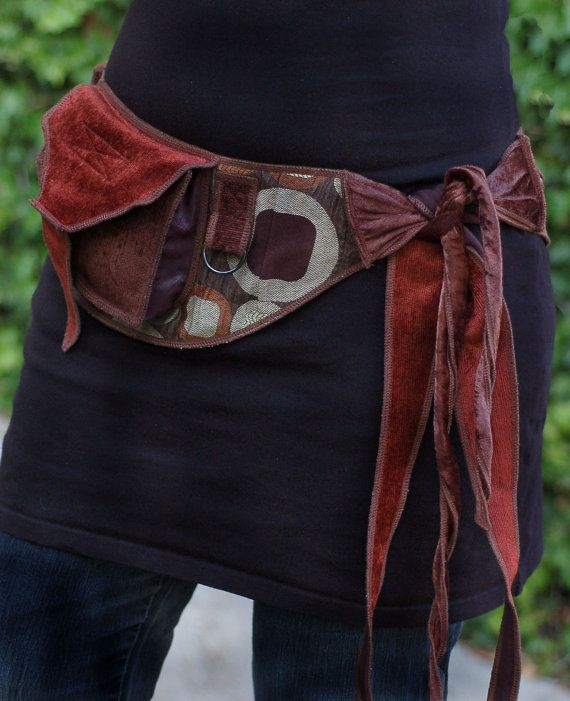 Bronze Circles - Pocket Belt - Utility belt - Festival belt - Hip bag - Bohemian - Burlesque - Burning man - Renaissance - Fanny pack - Money belt