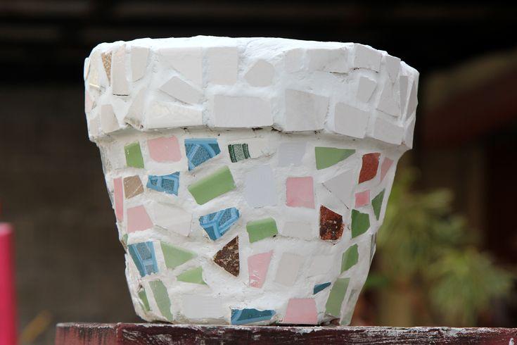 How to Make a Mosaic Flower Pot -- via wikiHow.com