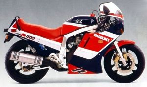 1986 GSXR1100 Red/Blue