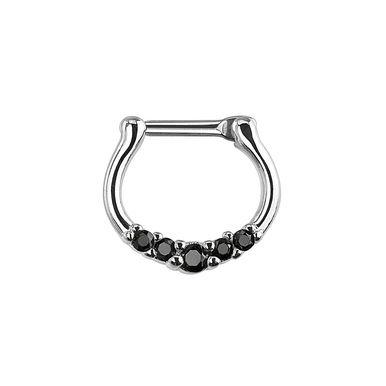 Crystal black diadem septum clicker  #Pinchandfold #septum #piercing #edgyjewellery www.pinchandfold.com