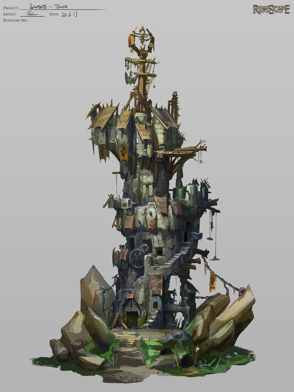 Bandos Tower, Neil Richards on ArtStation at http://www.artstation.com/artwork/bandos-tower