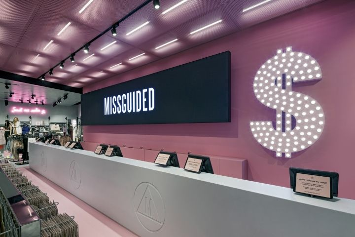Missguided store at Bluewater by Dalziel & Pow, Stone – UK » Retail Design Blog