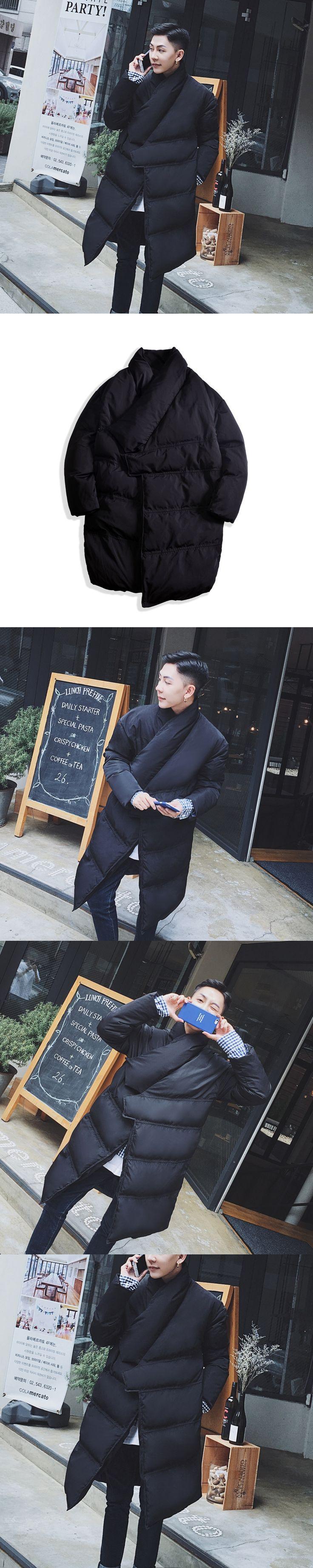 Designer Puffer Jacket Slide Buckle Parka Men Long Winter Jacket Men Stylish Mens Parka Homme Manteau Homme Hiver quilting parka