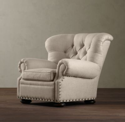 Oh, Restoration Hardware, why must you have the only stylish recliner in the whole world???