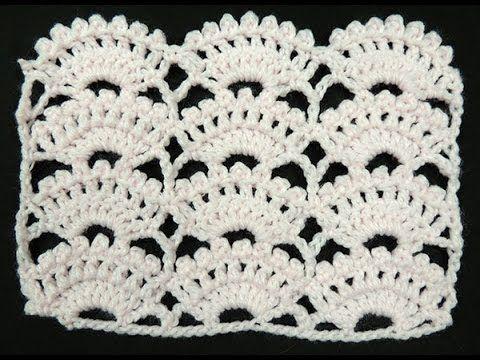 Vidéo en espagnol.Bien expliqué.Crochet : Punto Abanico # 8