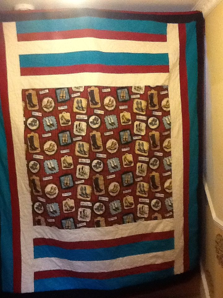 This is the back of Jeannine's quilt.