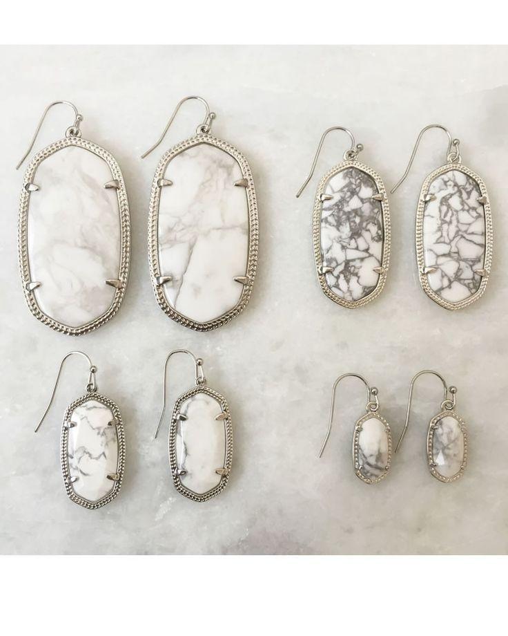 Elle Earrings in White Howlite - Kendra Scott Jewelry