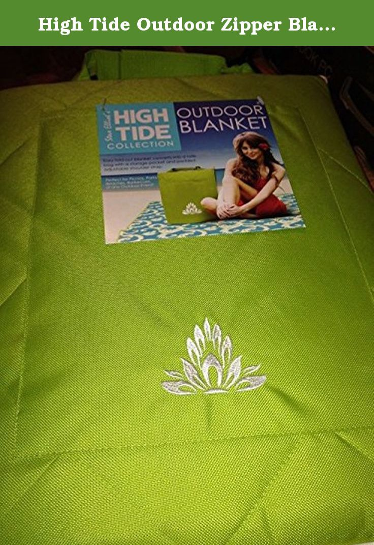High Tide Outdoor Zipper Blanket. This versatile indoor/outdoor blanket features the perfect blend of style and functionality, and can go anywhere you do. It's quick and easy to transport and ideal for picnics, concerts, beaches and sporting events. It goes from a cushion to a blanket in just one zip; fold it neatly and use it as a seat, or spread it out to accommodate the entire family. Its water-repellent properties make it great for any weather situation. Built-in handles allow you to...