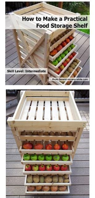 Free Food Storage Shelf Plans DIY | Easy Homesteading