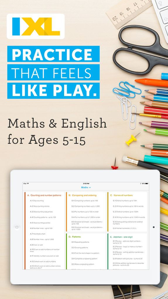 Fun & interactive maths and English app for IE students!