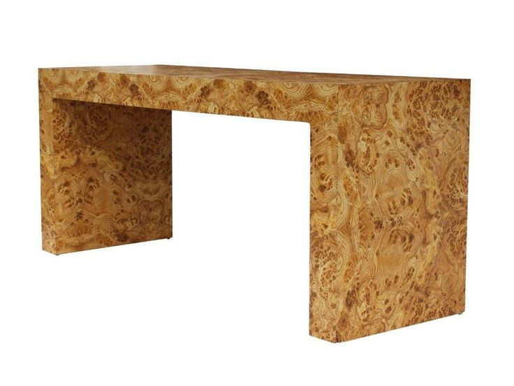Burl Laminate Parsons Console Table Milo Baughman Style 60 X 24 In Midcentury